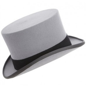 Christys' Grey Fur Felt Ascot Top Hat