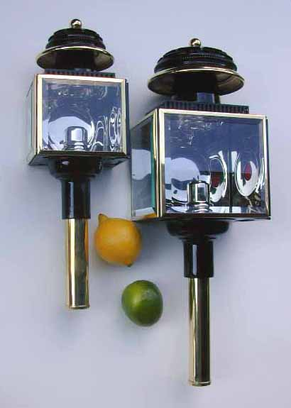 Large Square Nickel Lamps