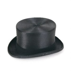 Christys' Polished Black Fur Felt Melusine Top Hat