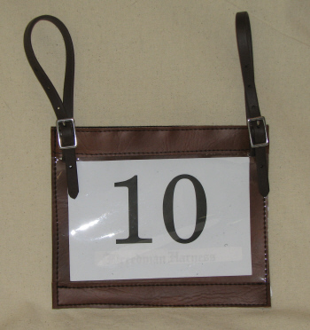 Number Holder with Straps