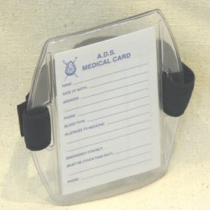 Armband With Medical Information Card