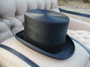 Christys' Polished Black Fur Felt Melusine Top Hat