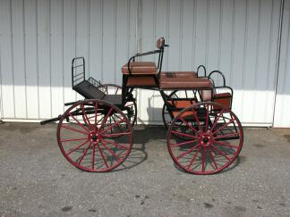 The RED HAWK Single HORSE Multi-Purpose Carriage